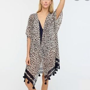 Jcrew leopard prints swim coverup